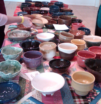 Beautiful bowls by Blue Ridge Potters Guild artists
