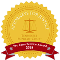 Tennessee Supreme Court Pro Bono Award