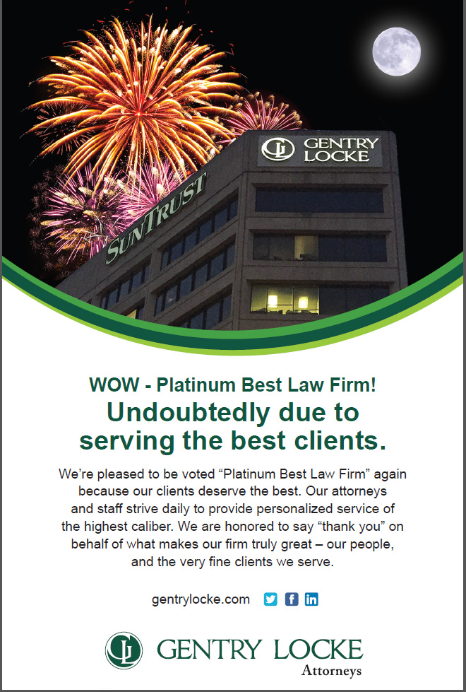 Hentry Locke voted Best Law Firm - Platinum again!