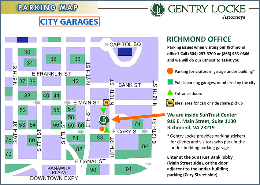 Garage lot parking for Richmond office
