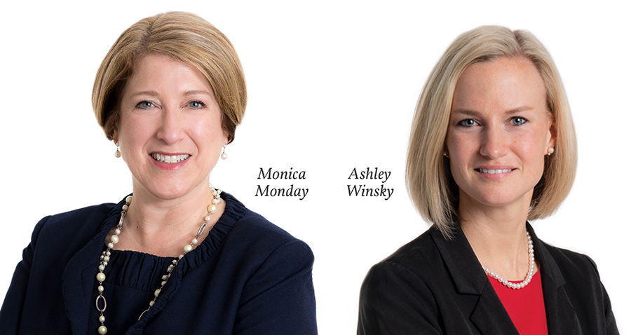 Gentry Locke Managing Partner Monica Monday, and Richmond Partner Ashley Winsky, noted by Chambers USA in 2019