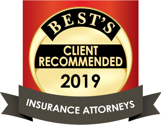 AM Best Client Recommended Insurance Attorneys Badge