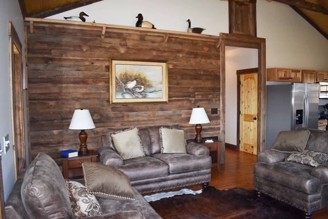Interior view of living room inside Cool Springs Cabin on Fulfillment Farms