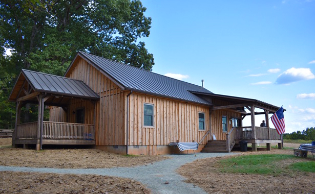 Exterior view of Cool Springs Cabin on Fulfillment Farms